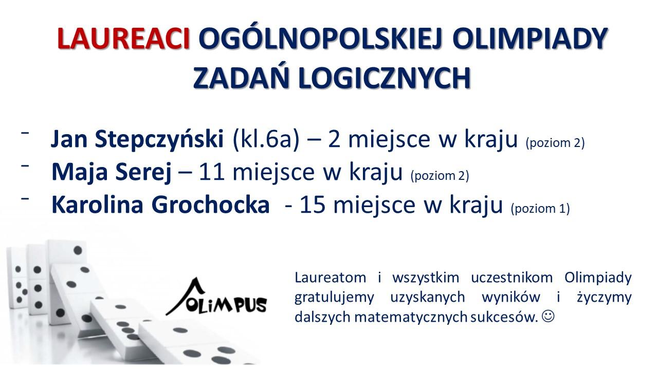 Laureaci Ogólnopolskiej Olimpiady Zadań Logicznych