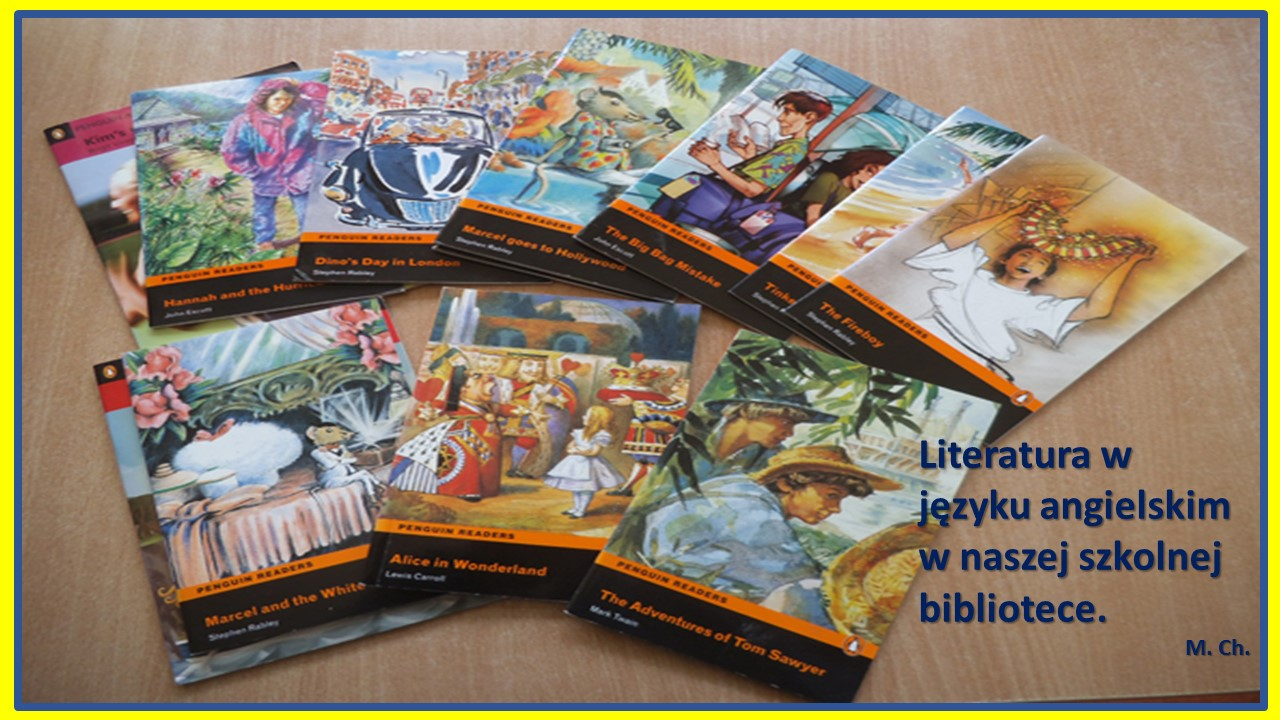 Literatura w języku angielskim w naszej szkolnej bibliotece