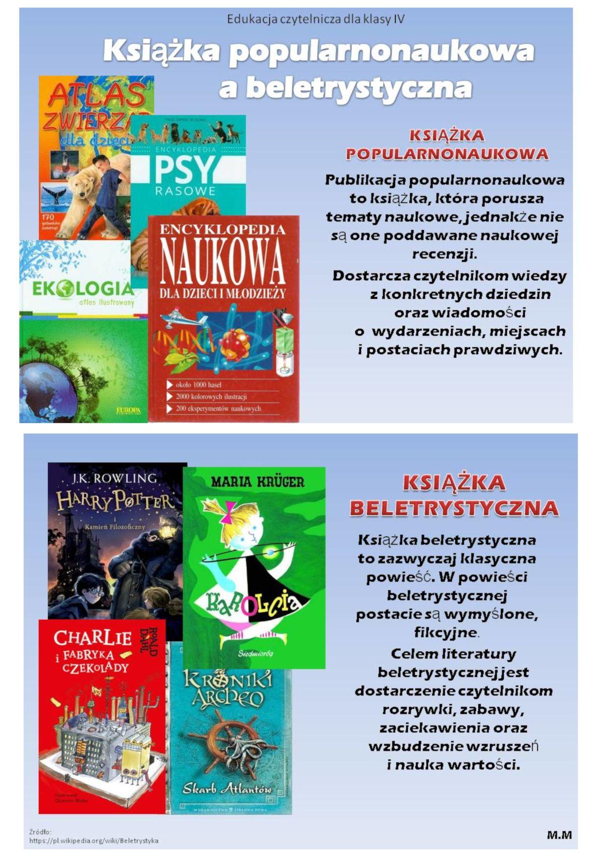Książka popularnonaukowa a beletrystyczna