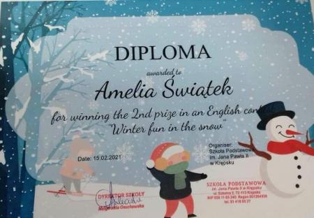 Gratulacje dla Amelki