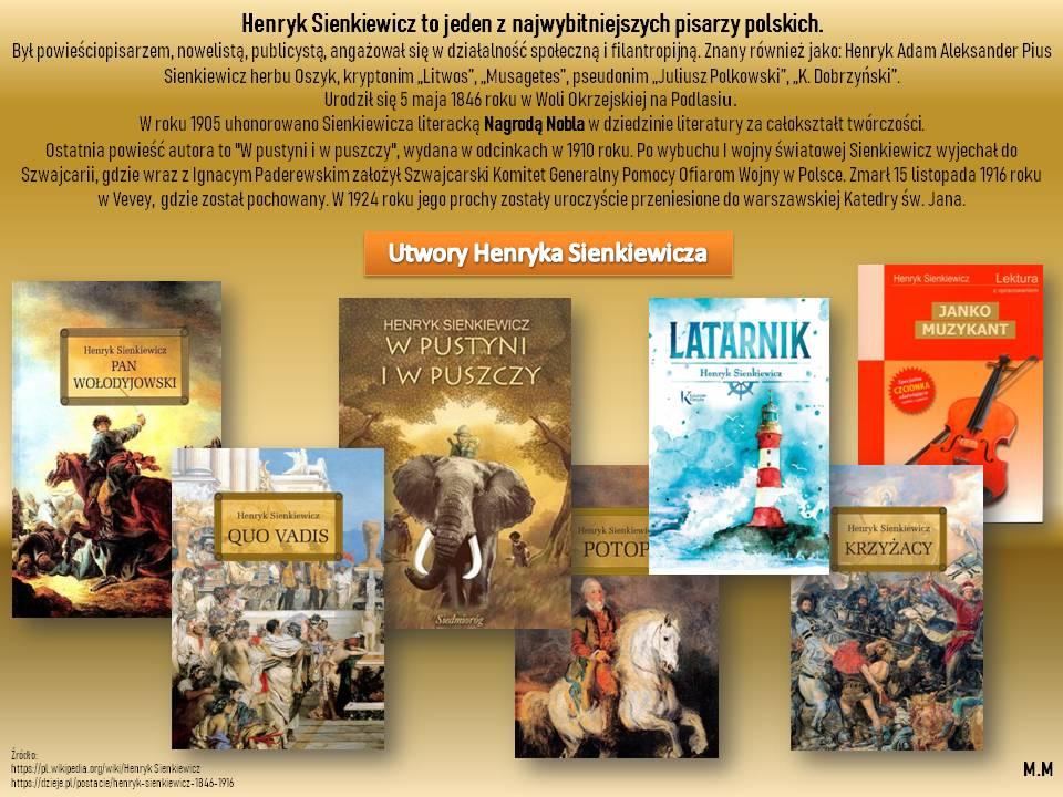175 rocznica urodzin Henryka Sienkiewicza