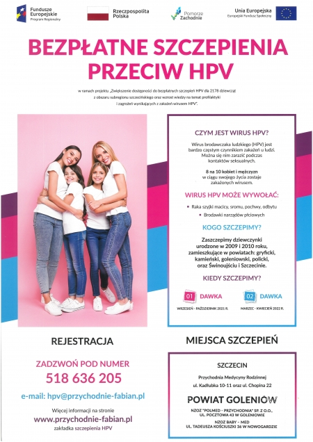 Bezpłatne szczepienia przeciw HPV