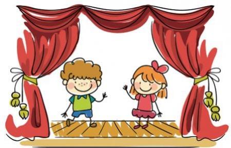 Koło teatralne - życzenia dla nauczycieli i pracowników szkoły